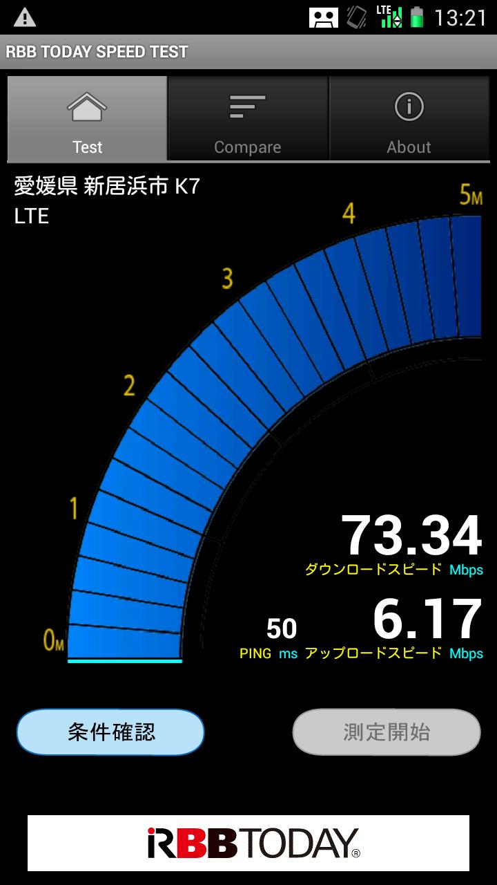 LTEエリア最前線 auのカテゴリー4 愛媛県新居浜市
